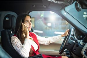 Distracted Driver on Cellphone Accident