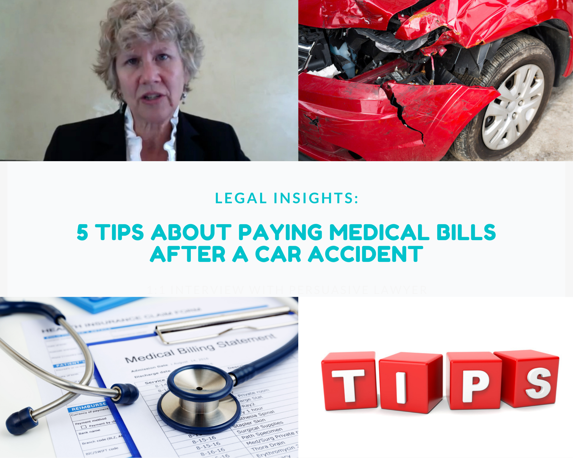 5 tips about paying medical bills after a car accident